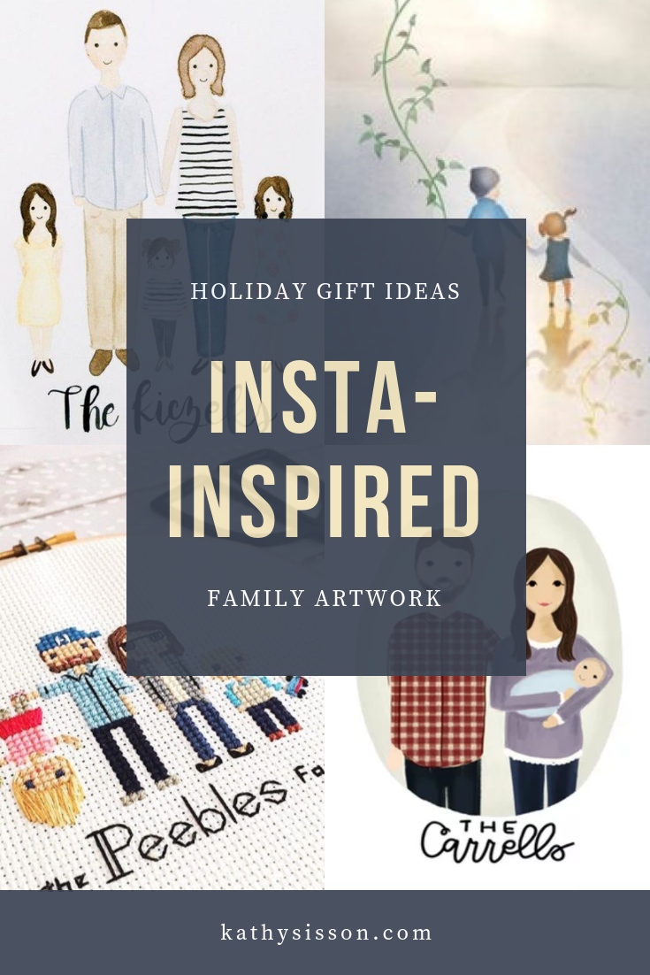 Instagram Inspired Family Artwork / Creative Holiday Gift Ideas from Kathysisson.com